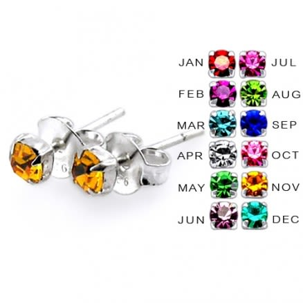 3MM Claw Set Birthstone Earring
