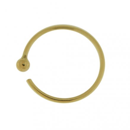 9K Gold Seamless Continues Flexible Hoop Nose Ring with Ball