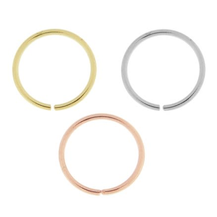 9K Gold Seamless Continuous Nose Hoop Ring