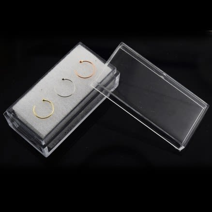 9K Gold Open Hoop Nose Rings in a Box