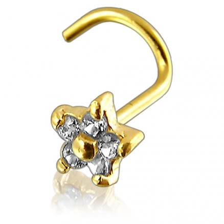 9K Gold Flower Nose Screw