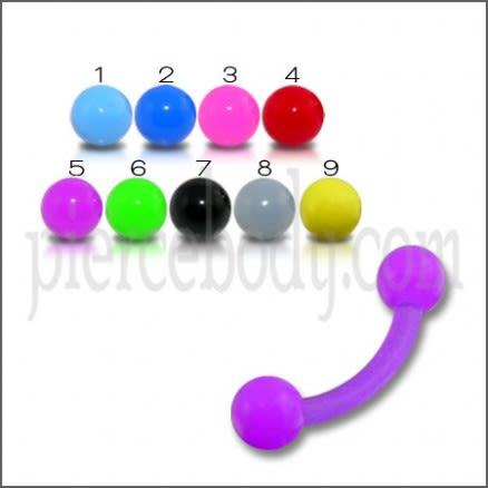 Purple UV Eyebrow Banana Ring With Plain Purple UV Balls