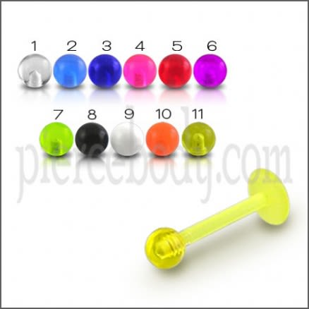 UV Labret With UV Fancy Balls
