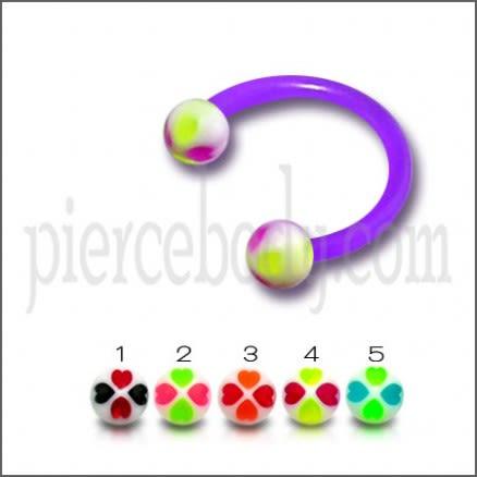UV Ball Circular Barbells Horseshoes Lip And Eyebrow Ring