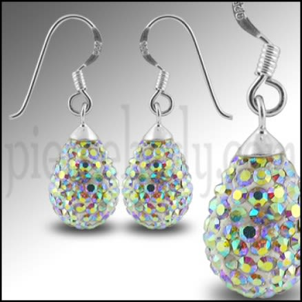 Multi Color Crystal stone Tear Drop Earring