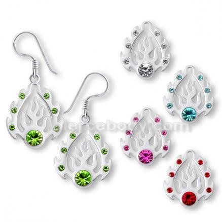 925 Sterling Fancy Jeweled Silver Earring