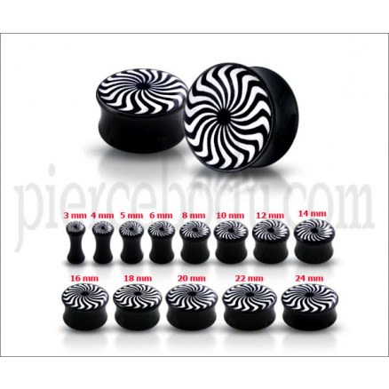 Double Flared eye Swirl Logo Ear Plug