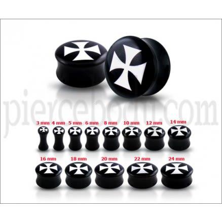 Double Flared Irish Cross Logo Ear Plug