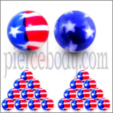 UV USA flag Balls