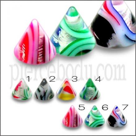 Mix Color Pack Threaded UV Fancy Lip Eyebrow Acrylic Cone