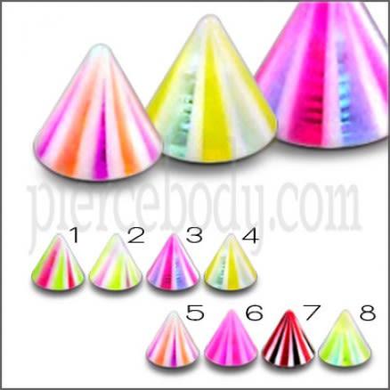 Assorted Color Lip Labret UV Multi Color Fancy Cone UVC014