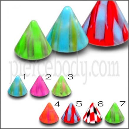 UV Piercing Fancy Cones Eyebrow And Lip Labrest