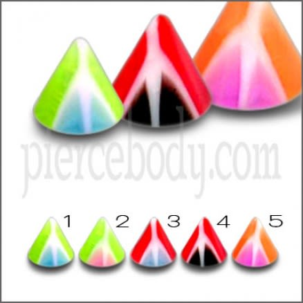 Acrylic UV Spikes Lip Labrets Body Piercing Jewelry