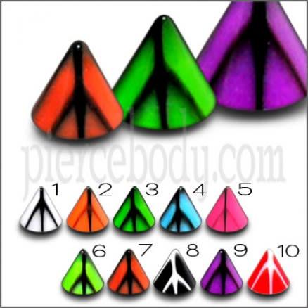 Multi Color UV Cones Chin Monroe Lip Labrets