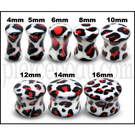 UV Double Flared Dalmatian Ear Plug