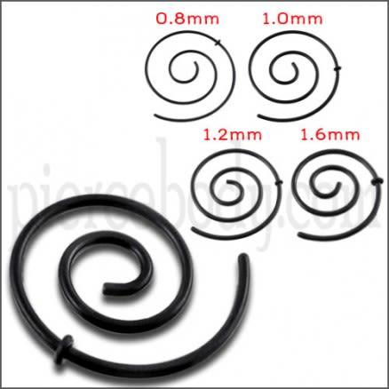 Anodized Black Spiral Ear Plug Expander