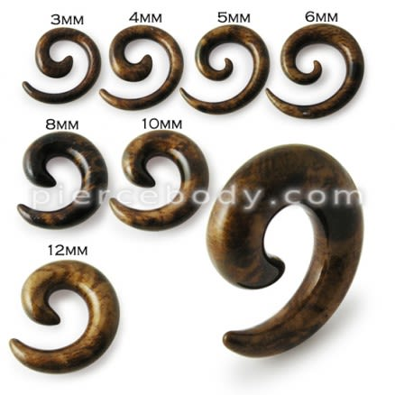 Classic Brown Spiral Ear Expander