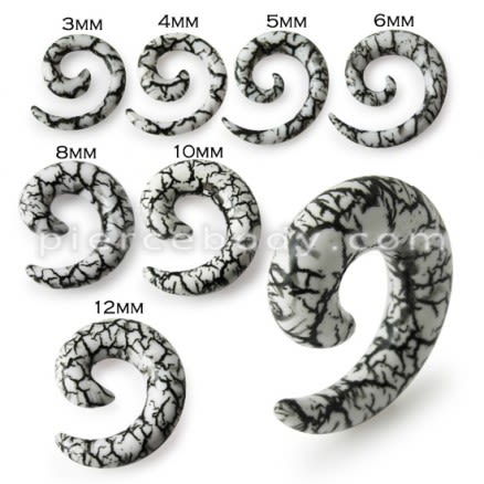 Snail Spiral Ear Expander Stretcher Plug Earrings