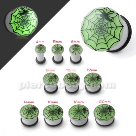 Glow In The Dark Spider Web Ear Plug