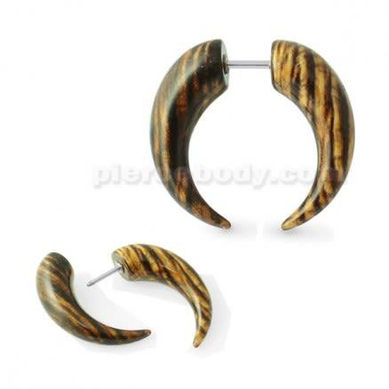 Wooden Color CBB Fake Ear Plug