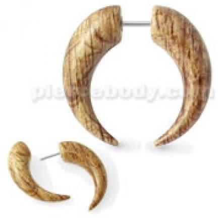 Wooden Marble CBB Fake Ear Plug