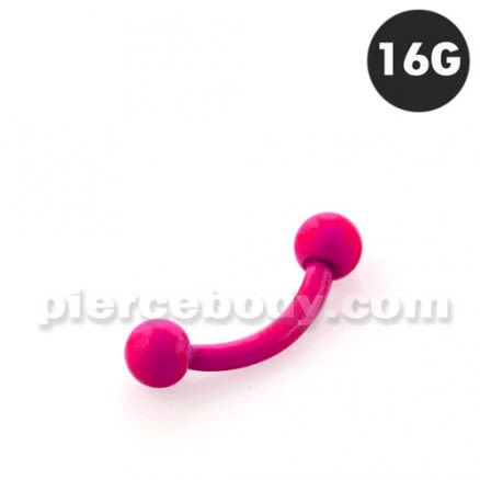 Neon Rose 316L Surgical Steel Curved Barbells