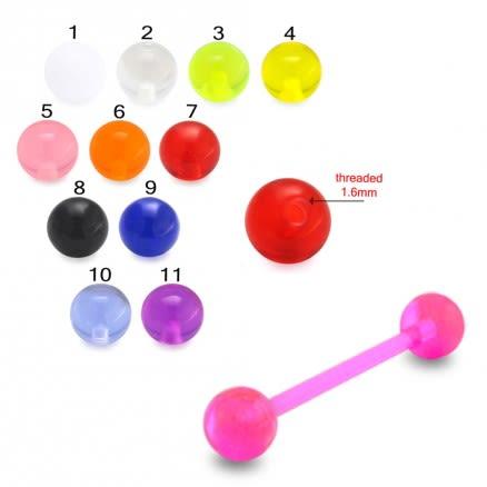 UV Tongue Barbell with UV balls