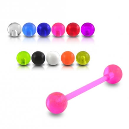 UV Tongue Barbell with UV balls