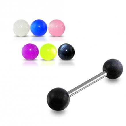vSS Tongue Barbell with Z Black Color UV Balls