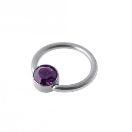 G23 Grade Titanium Jeweled BCR