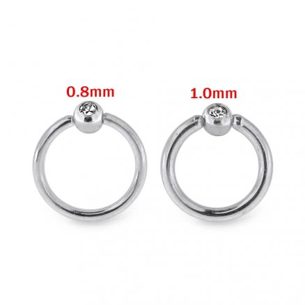 Surgical Steel CZ jeweled Flexible BCR Piercing Jewelry