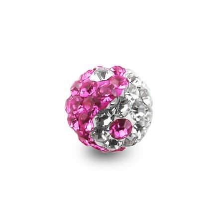 Ying Yang Crystal stone Ball