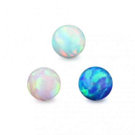 16 Gauge 3 mm Colorful Opal Balls