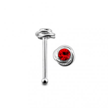 Jeweled Climber Ball End Nose Pin