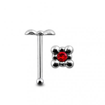 Jeweled Tub Ball End Nose Pin