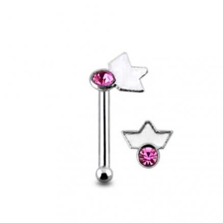 Jeweled Tiara Ball End Nose Pin