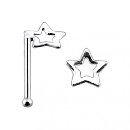 Di Cut Star Ball End Nose Pin