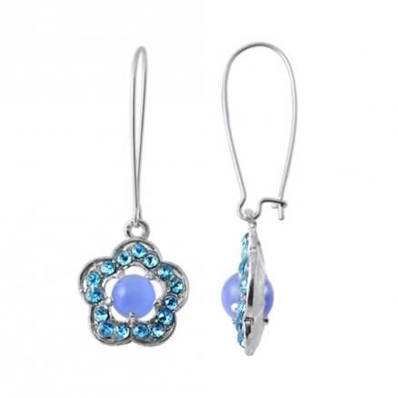 Multi Crystal Stone Costume Earring