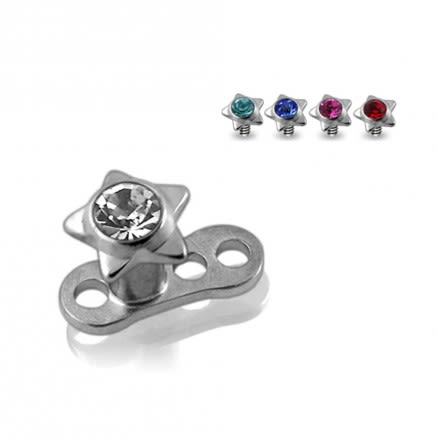Jeweled Star Top Dermal Anchors