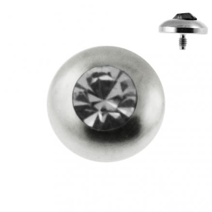 Bezel Set Jeweled Dermal Anchor Tops | Dermal Anchors