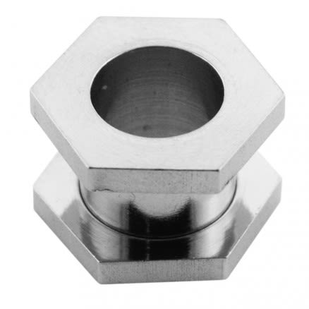 Hexagon Screw Fit Ear Flesh Tunnel