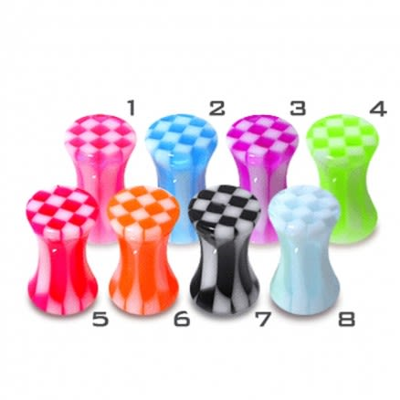 UV Acrylic Checker Ear Plug