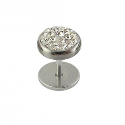 Multi Crystal Stone Body Jewelry Plug Earring