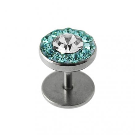 SS White Crystal Stone Ear Stud