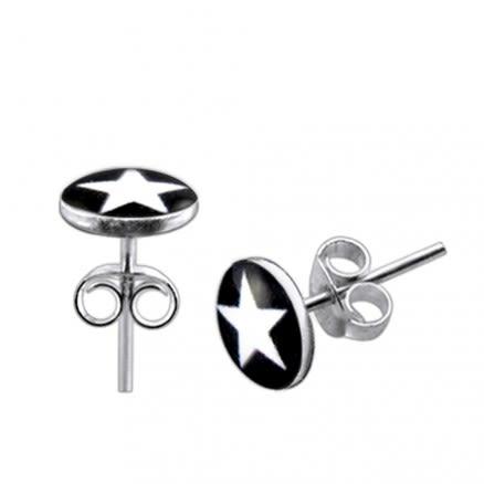 Star Logo Silver Earring