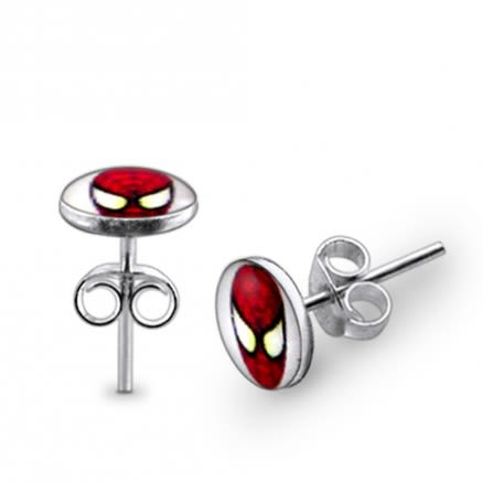 Spider man Logo Silver Earring