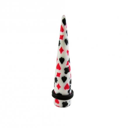 Playing Card Flowers Straight Ear Expander