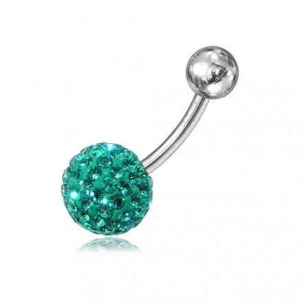 Crystal Stone Belly Ring Body Jewelry