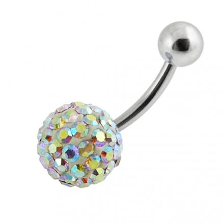Crystal Stone Belly Navel Ring Body Jewelry