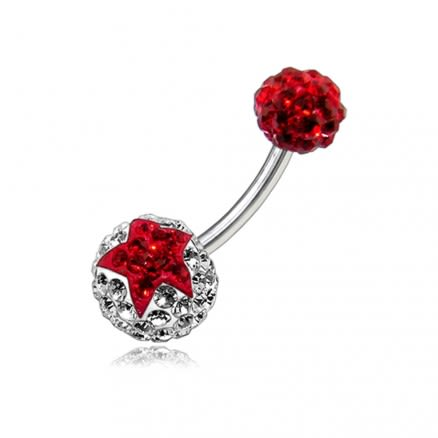Crystal Stone Belly Ring FDBLY115
